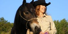 Jazz, with his trainer, Suzanne Myers (photo courtesy of Next Level Horsemanship)