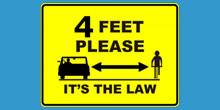 Four Foot Passing Law Road Sign