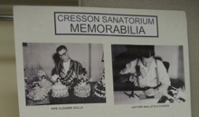 Cresson Sanatorium Memorabilia displayed at the August Reunion