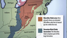 Map of Marcellus Shale deposit in PA
