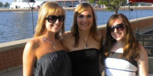 Kelsey (Right), with her Sister (Left) and Mom (Center)
