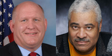 Republican Congressman Glenn Thompson and his Democratic challenger, Charles Dumas