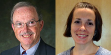 Profesor Steven Zarit, Penn State; Jennifer Pencek, Penn State's Center for Women Students